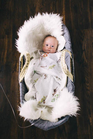 Little Unicorn Cotton Muslin Single Swaddle - Oh Deer!