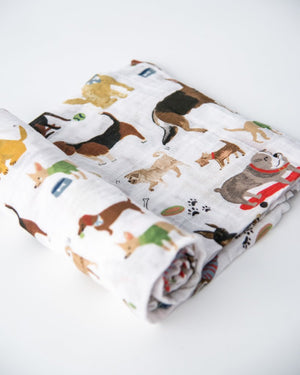 Little Unicorn Cotton Muslin Single Swaddle - Woof