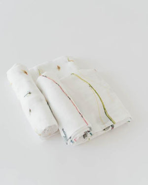Little Unicorn Deluxe Muslin Swaddle Blanket Set - Gone Fishing