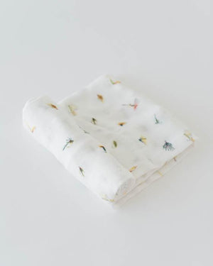 Little Unicorn Deluxe Muslin Single Swaddle - Gone Fishing