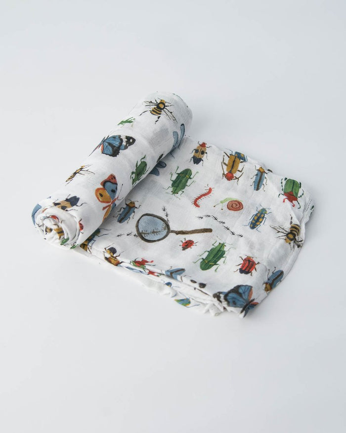 Little Unicorn Deluxe Muslin Single Swaddle - Bugs