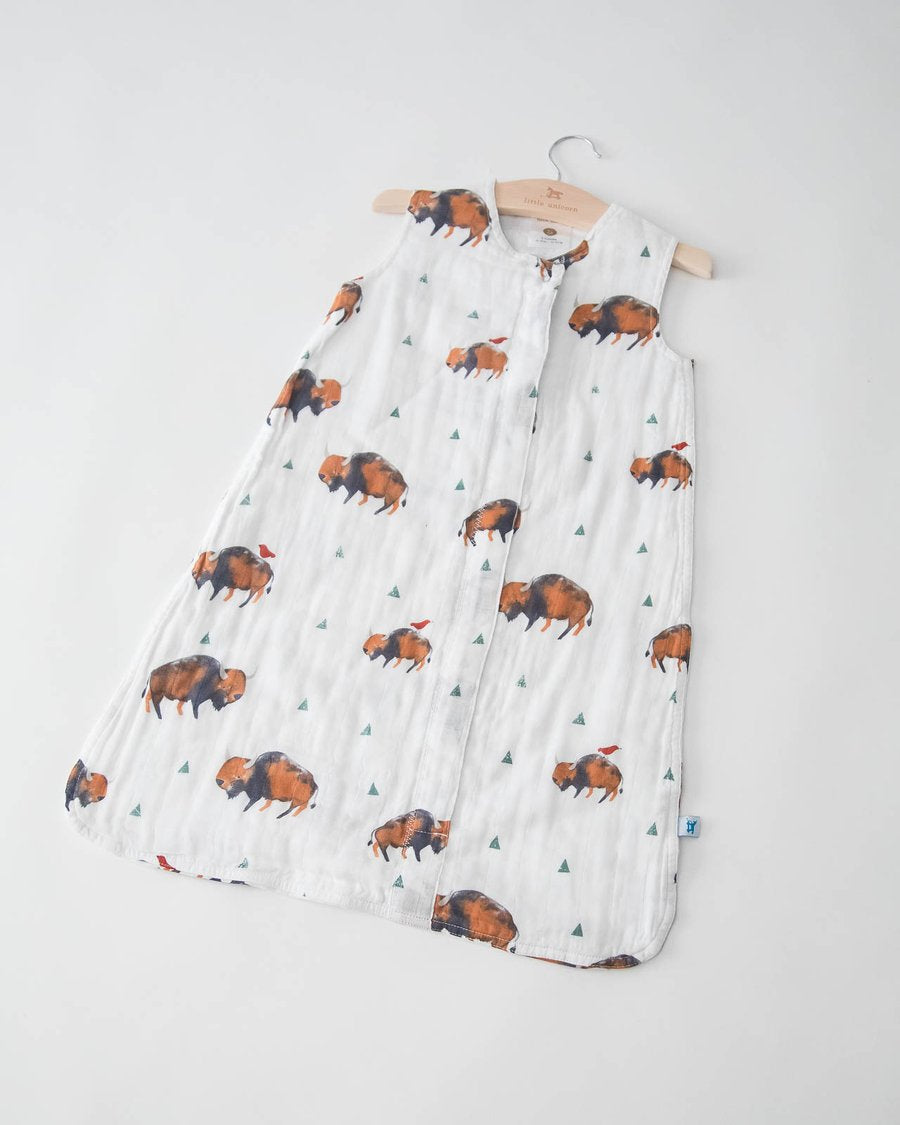 Little Unicorn Cotton Muslin Sleep Bag in Bison - Size Medium