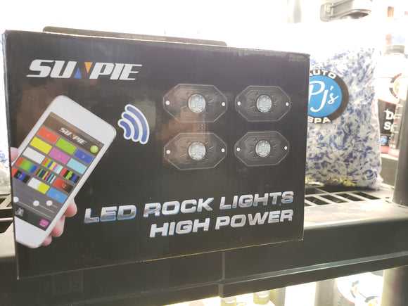 Bluetooth LED Rock Lights (4 pack)