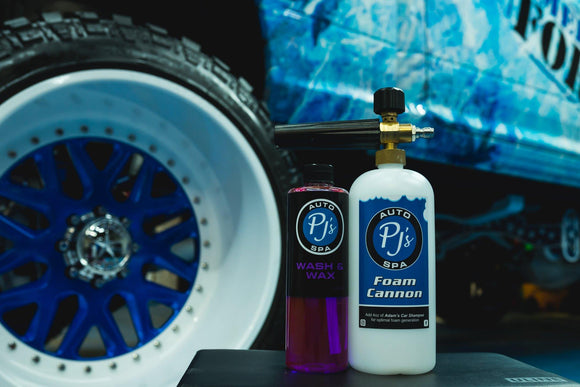 PJs Premium Foam Cannon + Wash and Wax kit
