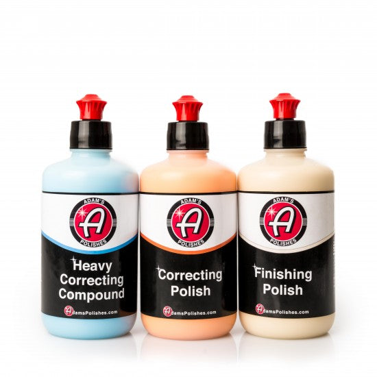 Adam's Correcting Compound, Correcting Polish & Paint Finishing Combo (8oz)