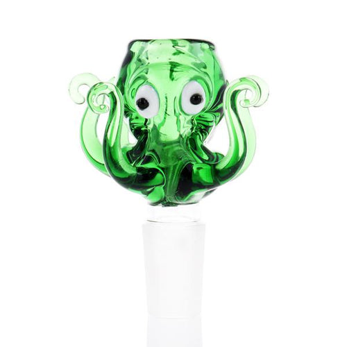 Amazing Glass Green Octopus Bowl