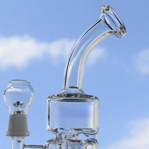 "Stacked 9.5"" Glass Dab Rig"
