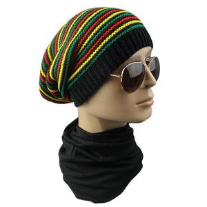 Multi-Colored Unisex Reggae Beanie