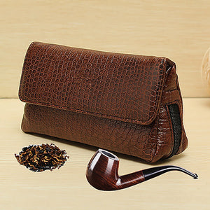 Leather Smoking Pipe Case