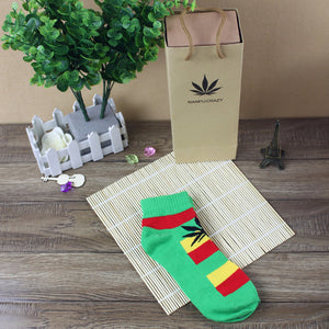 Unisex Cotton Weed Leaf Socks