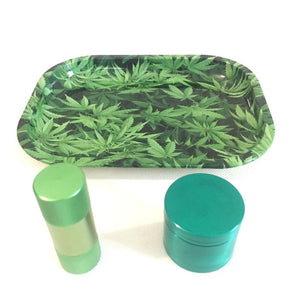 3 Piece Metal Rolling Tray Set