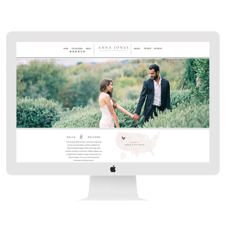 Wix Website Template Anna Jones