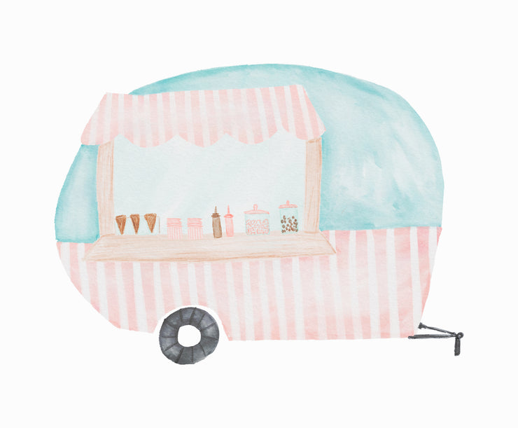 Ice Cream Camper Clipart