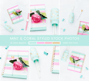 Mint & Coral Styled Stock Photos