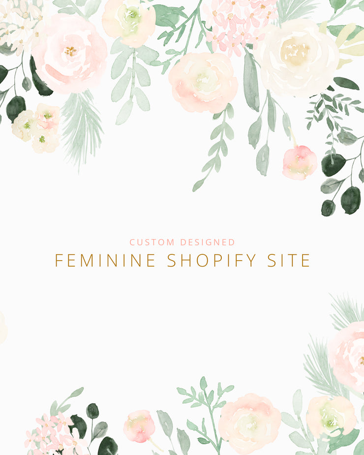 Custom Feminine Shopify Website