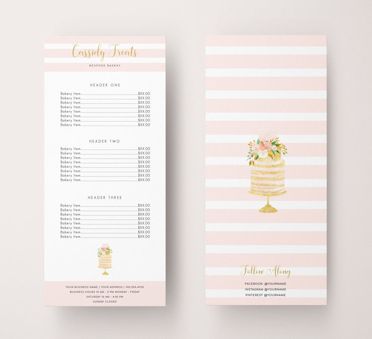 EditableBakery Rack Card