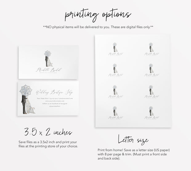 Editable Wedding Boutique Branding Kit