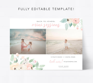 Editable Back to School Mini Session Template