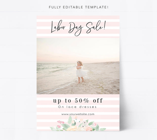 Editable Sale Marketing Template