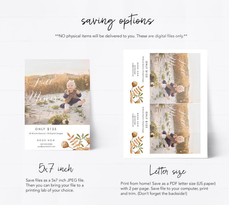 Editable Mini Session Template