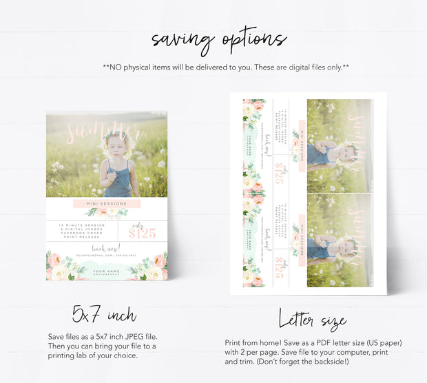 Editable Photography Summer Session Template