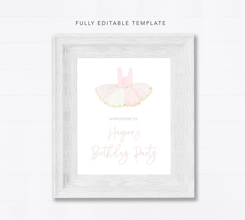 Editable Birthday Sign