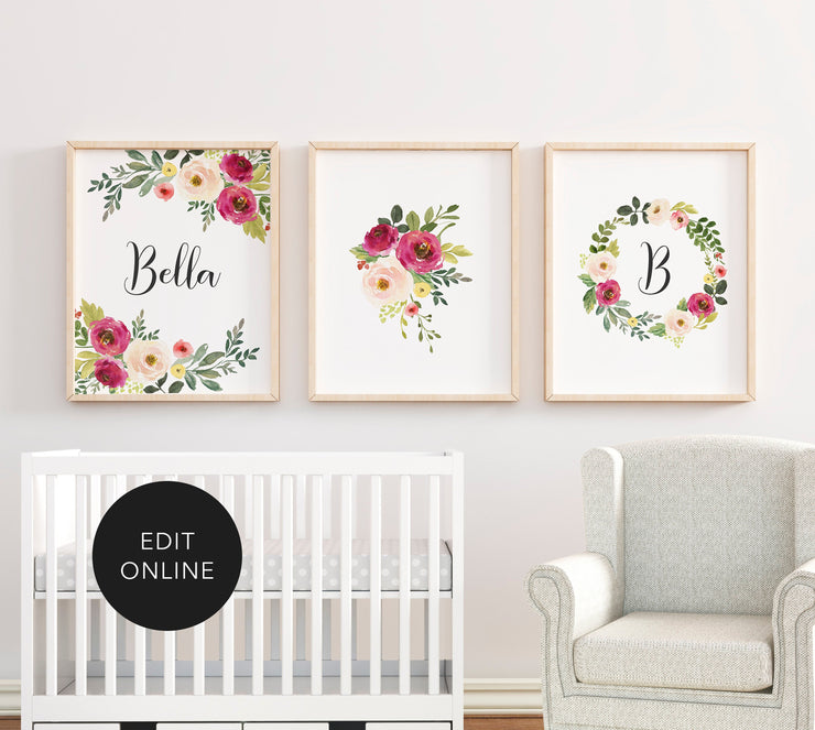 Editable Set of 3 Wall Printables