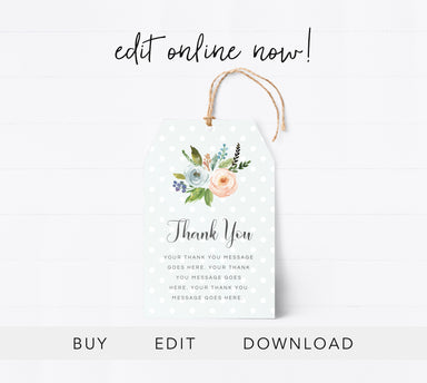 Editable Thank You Tag Printable