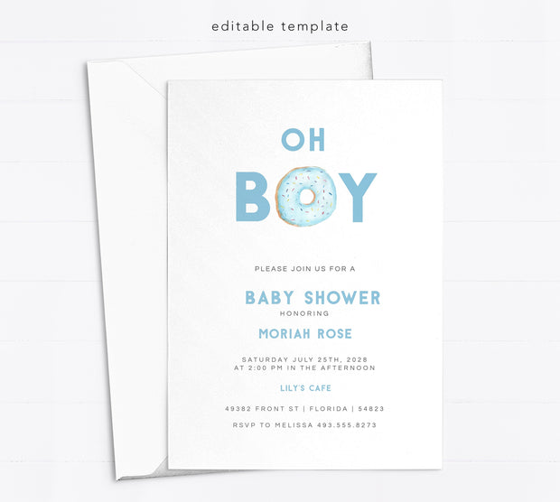 Editable Baby Shower Invitation