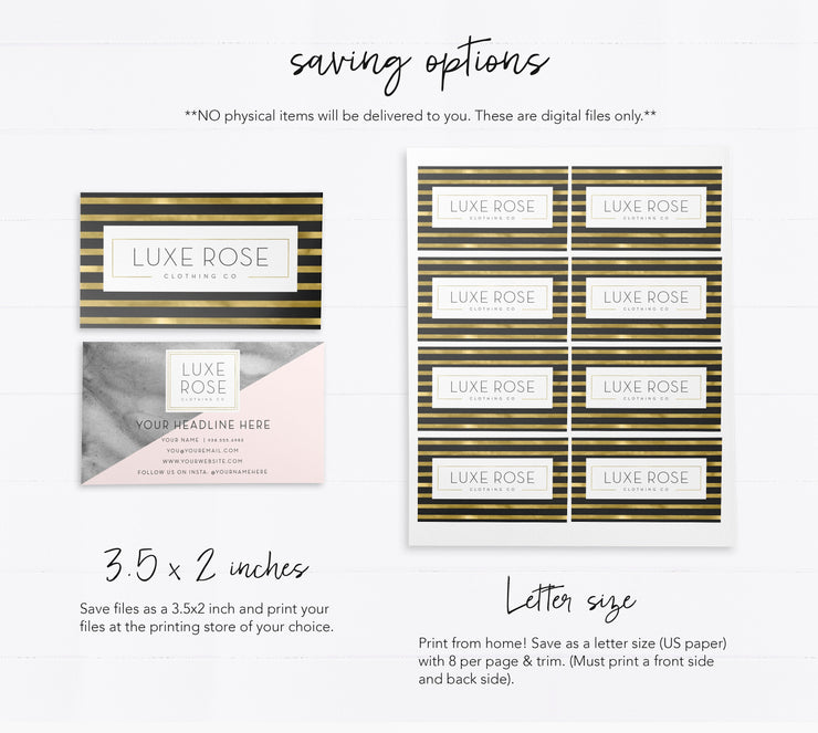 Editable Boutique Business Card Design