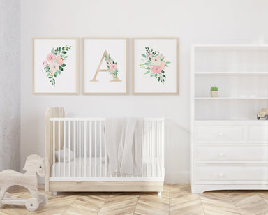 Set of 3 Gold Nursery Letters