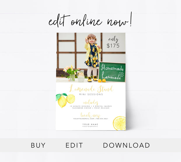 Editable Lemonade Stand Template