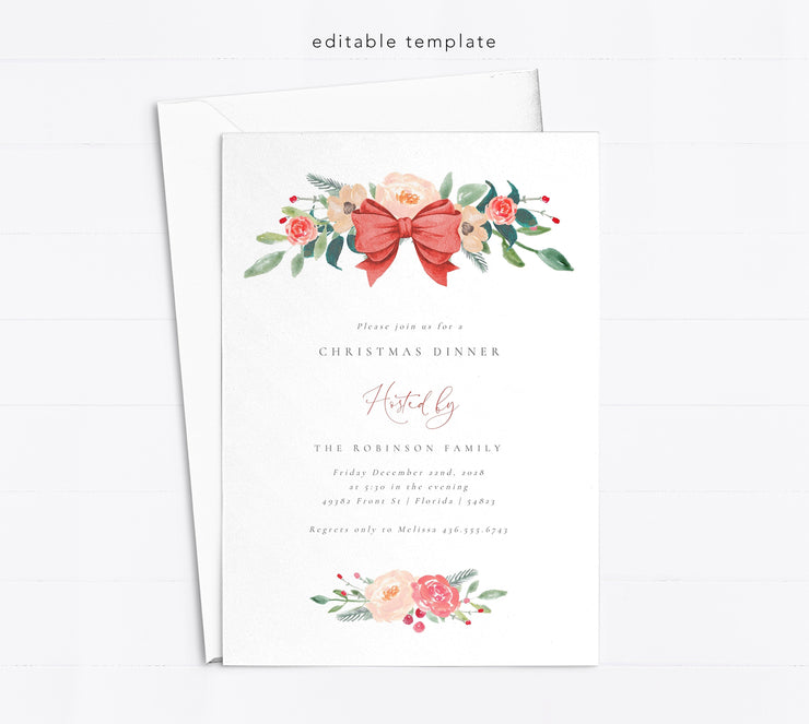 Printable Christmas Invitation