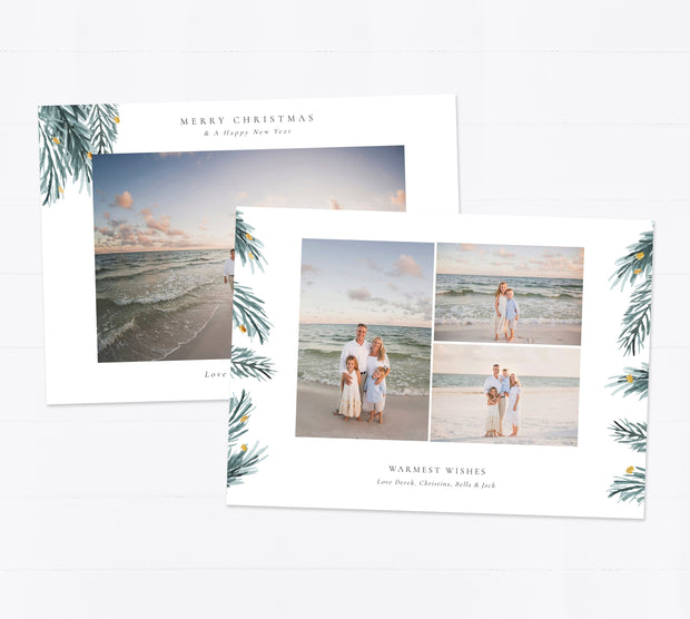 Christmas Card Template for Photographers