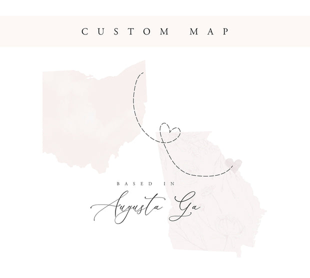 Custom Map Illustration for your website