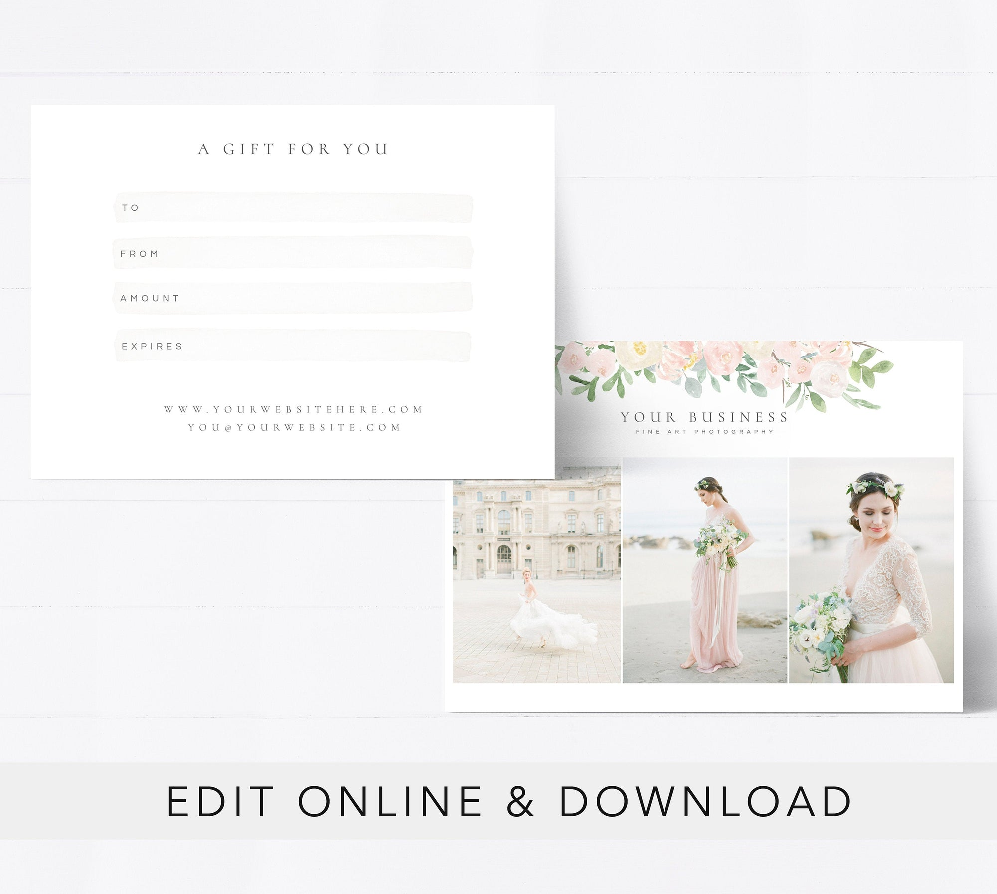 Editable Gift Card Template