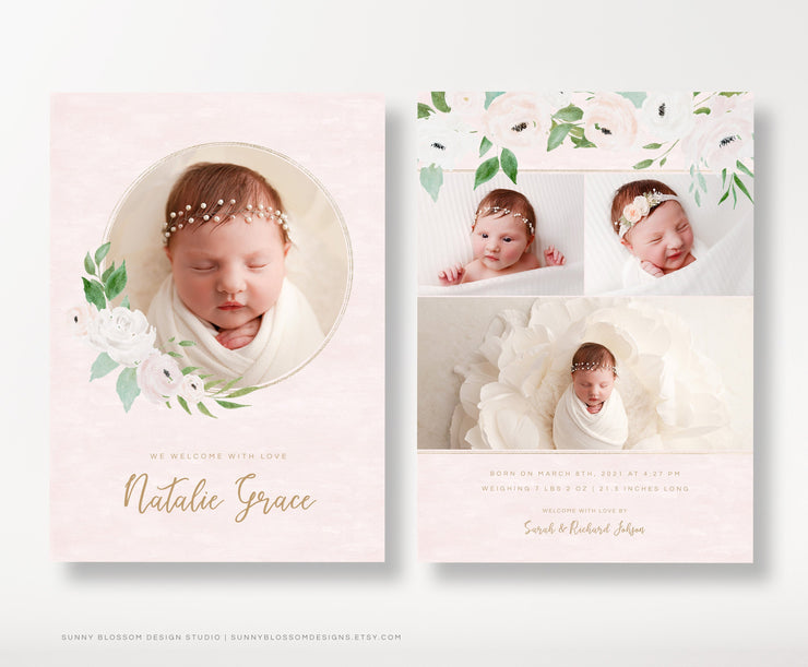 Birth Announcement Card for Photographers