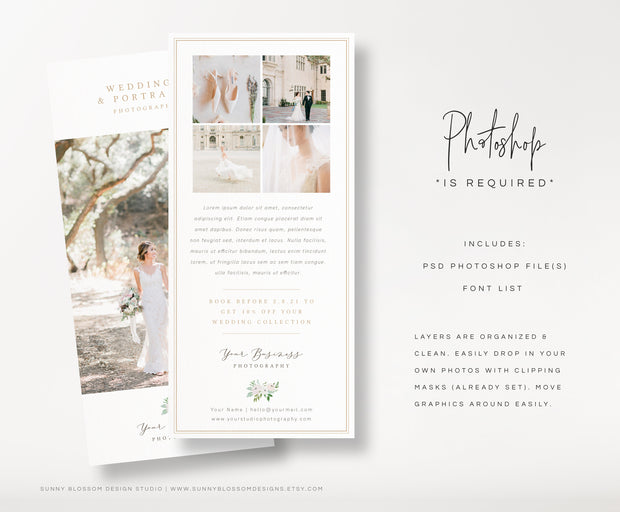 Wedding Photography Marketing Card