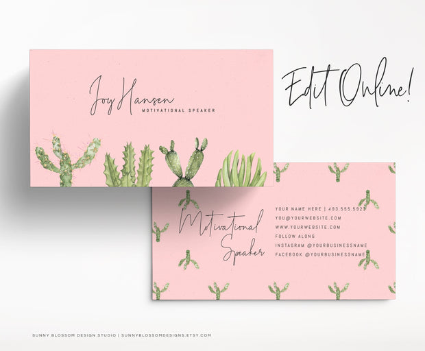 Cactus Business Card