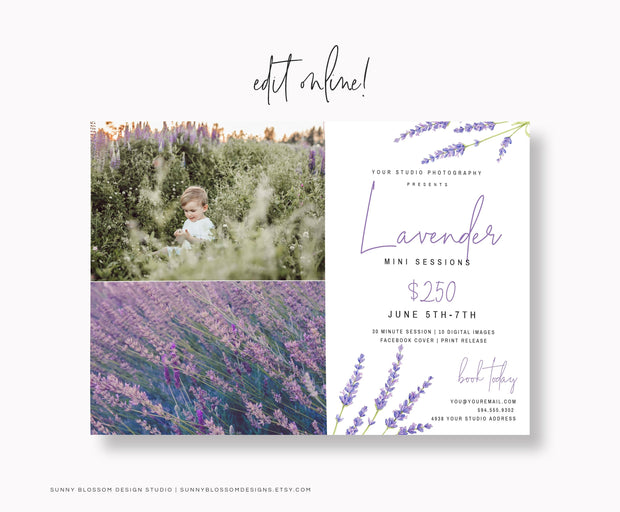 Lavender Spring Mini Session Template