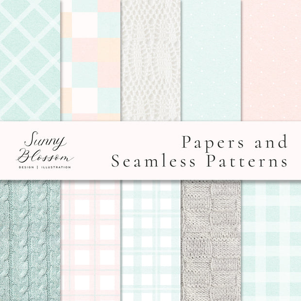 Knit Blanket Digital Papers