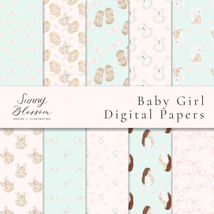 Baby Girl Digital Paper