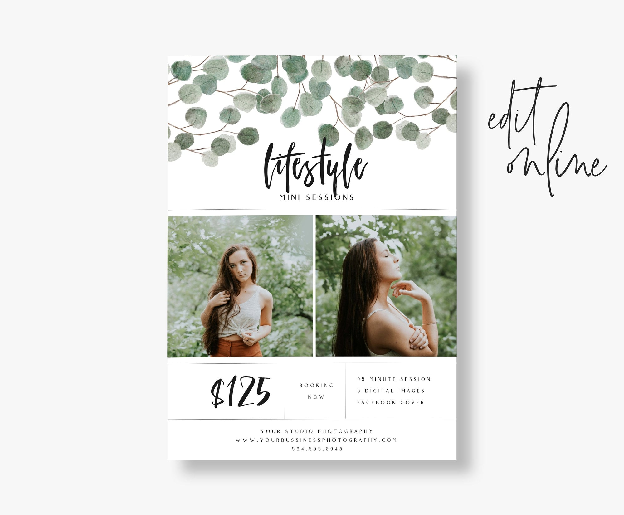 Lifestyle Mini Session Template