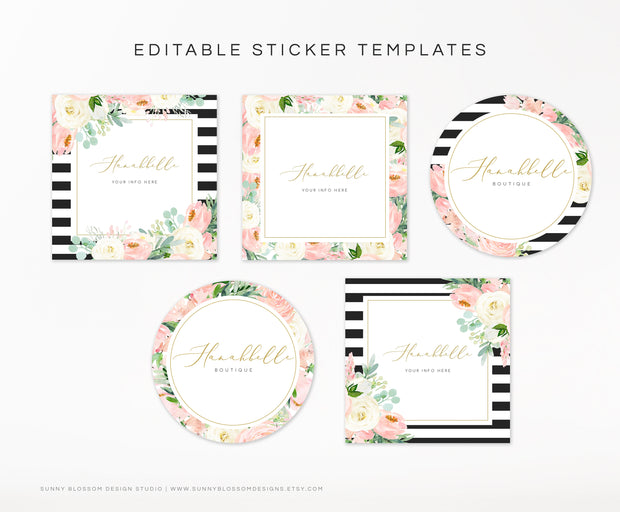 Editable Sticker Template