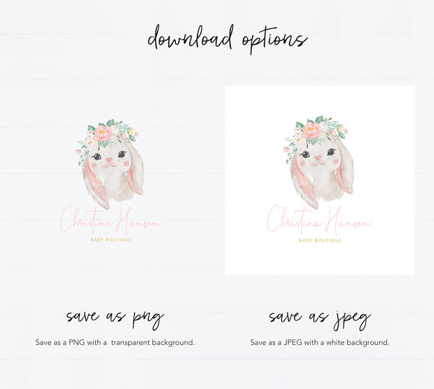 Editable Bunny Branding Kit