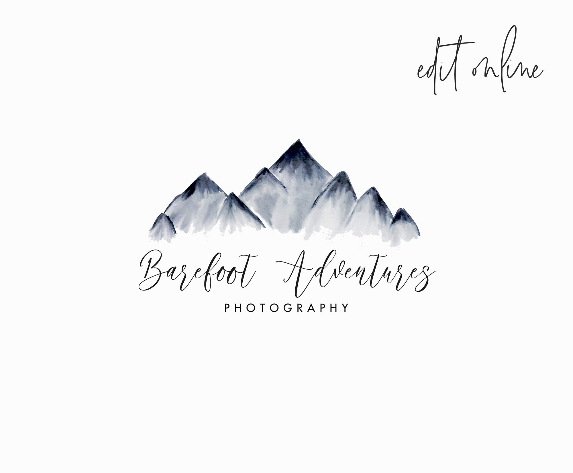 Editable Mountain Logo