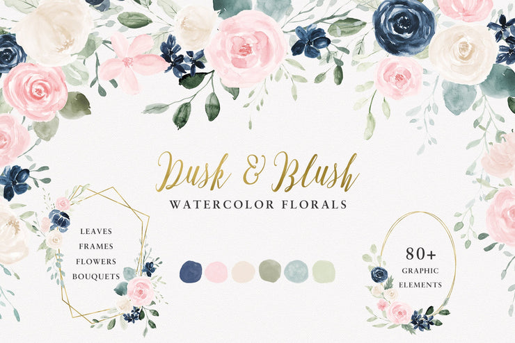 Wedding Watercolor Flowers