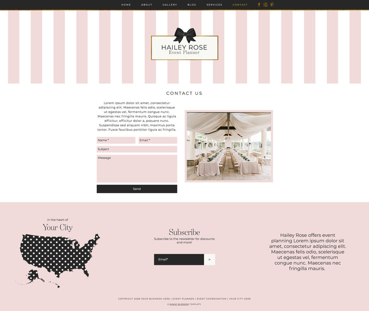 NEW* Wix Event Planner Website