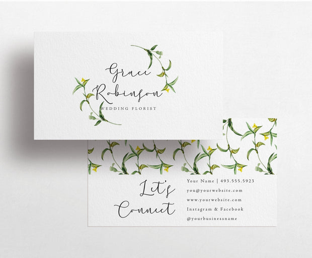 Vintage Flower Business Card