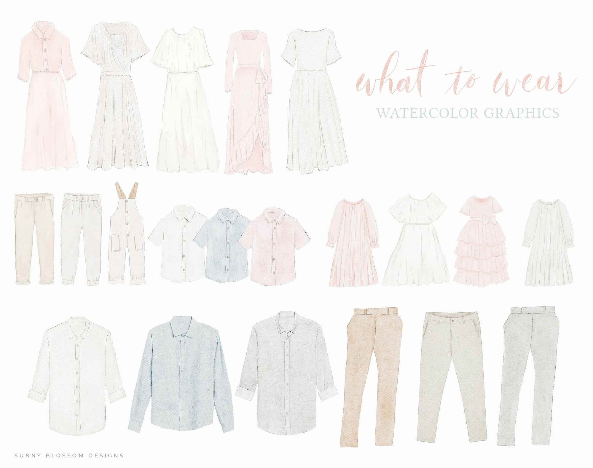 What to Wear Guide Graphics